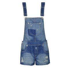 DENIM DUNGAREE Dungarees, Overalls, Overall Shorts, Denim, Summer, Women, Fashion, Moda, Summer Time