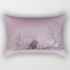 Cold Winter morning in Germany Rectangular Pillow