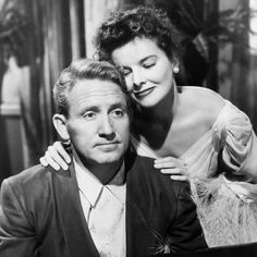 Double Act: Katharine Hepburn & Spencer Tracy Hollywood Actor, Golden Age Of Hollywood, Classic Hollywood, Old Hollywood, Old Movie Stars, Classic Movie Stars, Movie Couples, Famous Couples, Classic Actresses