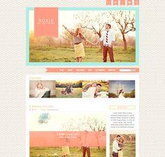 Dear Emmie Design: ROXIE Pro Photo Blog Template.