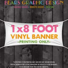 Vinyl Craft Show Banner  1x8 Foot by BearsGraphicDesign on Etsy