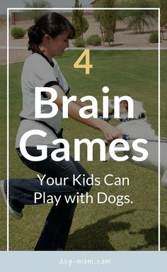 Brain Games Kids can Play with Dogs, Dog Care, Dog Boredom, Dogs and Children