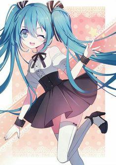 Miku Y Kaito, Kagamine Rin And Len, Black Rock Shooter, Cute Anime Pics, I Love Anime, Loli Kawaii, Kawaii Anime, Asuna, Manga Anime