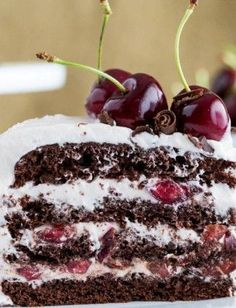 Drunken Cherry Chocolate Cake Recipe; alcoholic dessert collection: Chocolate and Cherries my favorite combination