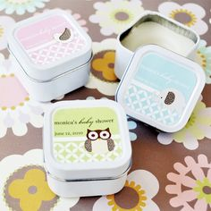 Baby Animals Personalized Square Candle Tin. Priced as low as $1.50/ea