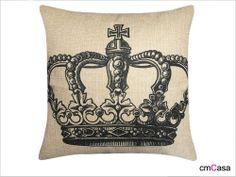 =cmCasa= 2528  Royal Crwon Throw Pillow Case/Cushion Cover