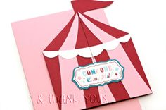 carte anniversaire cirque
