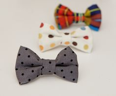 Mommy Minutes: Clip-on Bow Tie Tutorial. If not for baby -- than for all my friends with boys!!