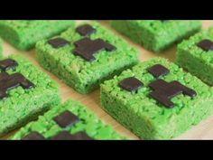 Foodista | Minecraft Creeper Rice Krispy Treats