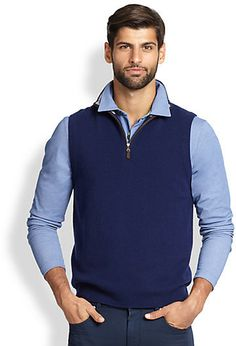 Saks Fifth Avenue Collection Cashmere Sweater Vest