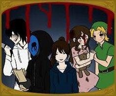A small part of the #Creepypasta #Family (From Left to Right: Jeff The Killer,Eyeless Jack,Jane The Killer,Sally,Ben)