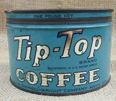 Old coffee tin. Battered, used and loved. Heart!!