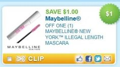 Save on Maybelline Illegal Length Mascara