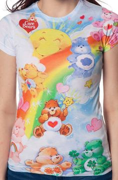 You will brighten everyone's day when they see you in this Sunshine Care Bears…