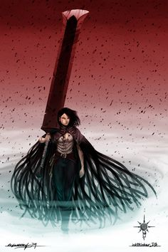 Mistborn - Vin  with Koloss sword