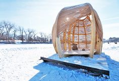 ROPE Pavilion by KNE Studio Is An Elegant Woven Warming Shelte...