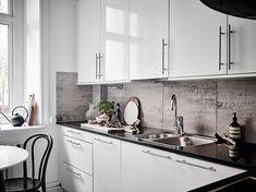 Воздушный серый интерьер двухкомнатной квартиры (63 кв. м) | Пуфик - блог о дизайне интерьера