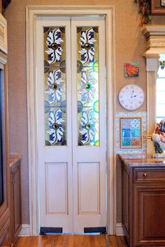 stained glass doors - between kitchen and mud/laundry room More