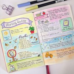 My Morning Routine in my Bullet Journal