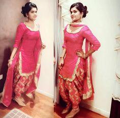 @sardarniii Patiala Suit Designs, Salwar Designs, Designer Punjabi Suits, Indian Designer Outfits, Punjabi Fashion, Indian Fashion, Ethnic Outfits, Indian Outfits, Women Salwar Suit