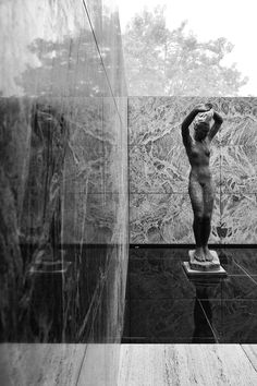 #17  An exceptional, rare view of the #Barcelona Pavilion, by #MiesvanderRohe.  Flawless.