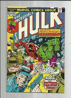 INCREDIBLE HULK #172 Grade 8.0 Bronze Age featuring Juggernaut, X-Men & more! http://r.ebay.com/flM8en