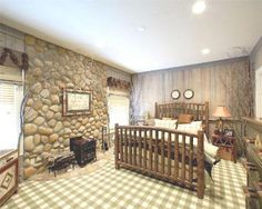 Love the stone wall.