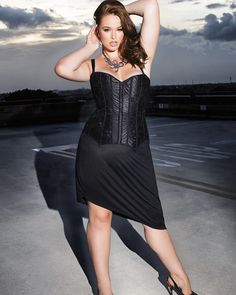 We're still loving wearing lingerie outside the bedroom. is wearing our corset, style number 7062 with a skirt. How would you wear this corset? Plus Size Corset, Satin, Lace Overlay, Get The Look, Curvy, Formal Dresses, Outfits, Women, Lace