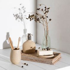 Polyresin. Range Includes:Soap Dispenser 10.4 x 6.5 x 15.5cmTumbler 7.6 x 7.6 x 10cmToothbrush Holder 10.4 x 6.5 x 8cmSoap Dish 13 x 8.8 x 1.6cmToilet Brush Holder 9.5 x 9.5 x 10.5cmHand wash only. Liquid soaps with a low PH value can corrode and damage soap dispensers. Take care in selecting liquid soap for use. Made in China. Beige Bathroom, Soap Dispensers, Time Shop, Liquid Soap, Bathroom Accessories, Pet Beds, Pillow Protectors, Soaps, Ph