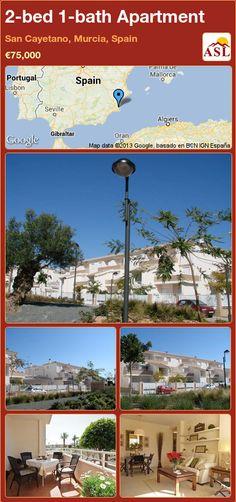 2-bed 1-bath Apartment in San Cayetano, Murcia, Spain ►€75,000 #PropertyForSaleInSpain
