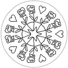 Mandala de Sant Jordi Dover Coloring Pages, Coloring Books, Coloring For Kids, Adult Coloring, St Georges Day, Metal Embossing, Geometric Mandala, Zen Doodle, Saint George
