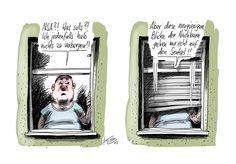 Karikaturen im Archiv