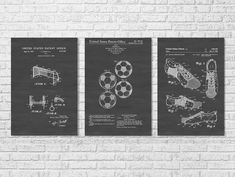 Soccer Patent Collection of 3 Patent Prints by PatentsAsPrints