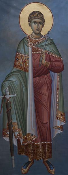 Άγιος Δημήτριος / Saint Demetrios Byzantine Art, Byzantine Icons, Orthodox Christianity, Religious Icons, Art Icon, Orthodox Icons, Saint George, Christian Art, Catholic