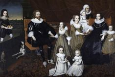 Sir Thomas Lucy, Lady Alice Spencer, and family by or after Cornelius Johnson (Charlecote Park, The Fairfax-Lucy Collection - Warwick UK) Men in slashed sleeves. Everybody wears a ruff.