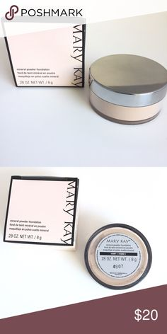 Brand New...Mary Kay® Mineral Powder Foundation Ivory 1 Color..Mary Kay® Mineral Powder Foundation is a weightless, skin-perfecting powder that makes lines, wrinkles and other imperfections seem to disappear. You get the coverage of a foundation with the comfort of a powder.  Buildable coverage blends effortlessly with the sweep of a brush for a flawless look. Long-wearing, transfer-resistant formula won't fade away by midday. Controls shine and imparts a matte finish. Mary Kay Makeup…