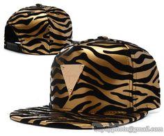 Casquette Hater Snapback Or Zebra En Cuir   Casquette Pas Cher 1c38c2c6d1f4