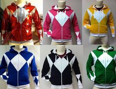 Here are those Power Rangers hoodies you've been hoping would finally exist.