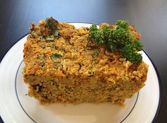Spicy quinoa and lentil loaf