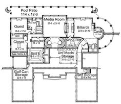Colonial Greek Revival House Plan 72145. Basement Floor ...