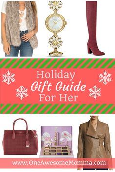 holiday gift guide for the special woman in your life