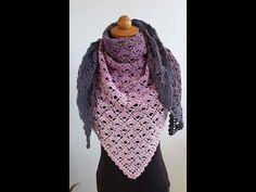 Τριγωνο Σαλι με Βελονακι ευκολο και ομορφο - YouTube Crochet Shawl, Stitch, Knitting, Youtube, Fashion, Tricot, Tutorials, Handarbeit, Breien