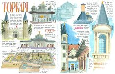 Turquia_10_11 Art Journal Pages, Sketch Journal, Art Journals, Travel Journals, Voyage Sketchbook, Travel Sketchbook, Artist Sketchbook, Bullet Journal School, Ideas Scrapbooking