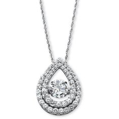 "PalmBeach Jewelry 1.75 TCW Cubic Zirconia ""CZ in Motion\"" Pear-Shaped... ($101) ❤ liked on Polyvore"