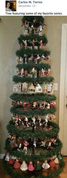 What a unique tree for Hallmark series ornaments!