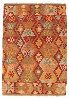 Kelim Afghan Old style tapijt 143x195