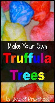 The Lorax: Themed Sensory Bin with DIY Truffula Trees by tina