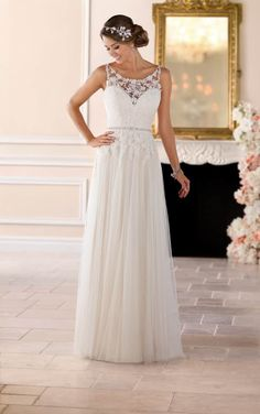 Vestidos de novia sencillos para novias estilo boho, vintage y hippie.