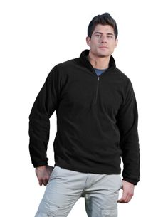 Men's Anti-Pilling Dobby Fleece 1/2 Zip Ls Knit Shirt (100% Polyester).  Tri mountain 7050  #perfect  #casualwear #sporty