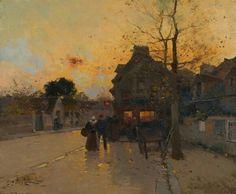 """""""Village, un soir d'automne"""" Galien-Laloue"""
